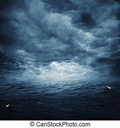 naturel, orageux, résumé, arrière-plans, conception, océan,...