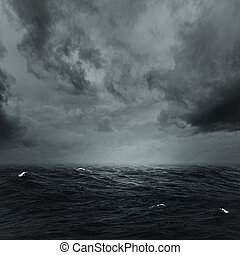 naturel, orageux, résumé, Arrière-plans, conception,  océan, ton