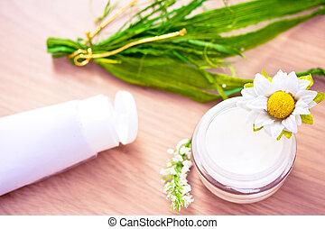 naturel, organique, beauté, lotion/moisturizer