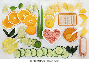 naturel, peau, produits, soin