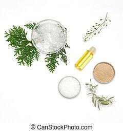 naturel, production, cosmetics., ingrédients