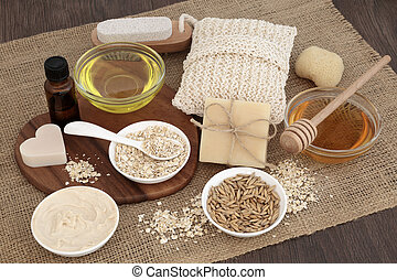 naturel, produits, skincare