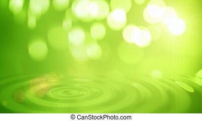 naturel, résumé, arrière-plan vert