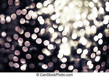 naturel, résumé, twinkled, lumières ville, bokeh, defocused, fond