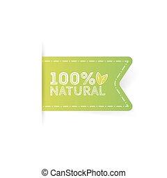 naturel, sain, produit, organique, étiquette, nourriture.