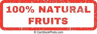 naturel, timbre, cent, caoutchouc, fruits, 100