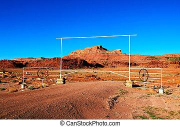 naturel, usa., beauté, canyons, arizona., grès, rocher, rouges
