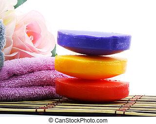 naturel, vitamine, santé, propre, peau, savon, soin