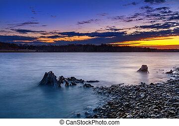 Nature's Painter's Palette at Sunrise