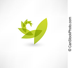 natureza, folha, ícone