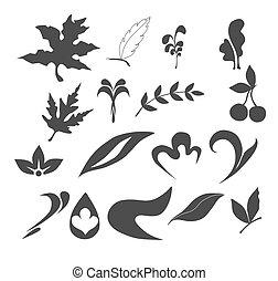natureza, folha, cobrança, ícones