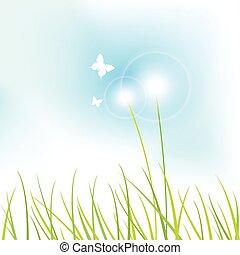 natureza, fundo, -grass