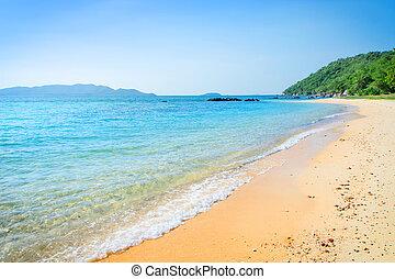 natureza, viagem, praia, tailandia, lugar, mar