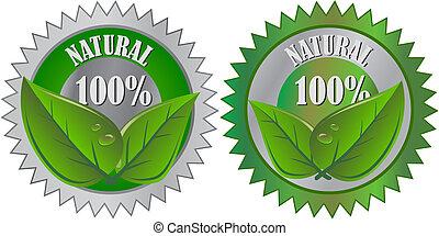 naturlig, eco, alster märk