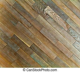 naturlig, golv, ek, struktur, mönster, ved