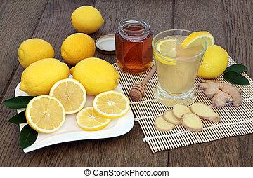 naturlig, kall, och, influensa, botemedel