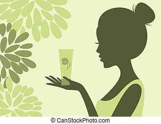 naturlig, kosmetika
