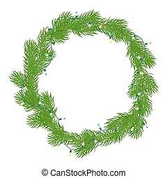 naturlig, krans christmas