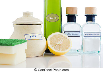 naturlig, non-toxic, rensning, produkter