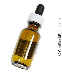 naturopathic, egyedülálló, palack, orvoslás