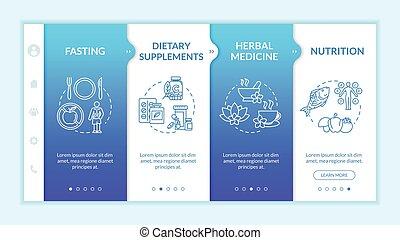 naturopathy, rgb, herbal, vektor, walkthrough, websida, steg...
