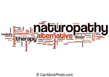 Naturopathy word cloud concept