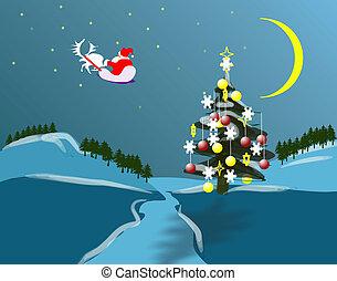 natuur, kerstmis, holidey