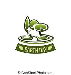 natuur, milieu, vector, groene aarde, dag, pictogram