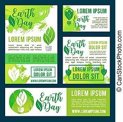 natuur, milieu, vector, groene aarde, ontwerp, dag