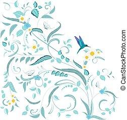 natuur, ornament, vlinder, ontwerp, bloemen, boete, jouw