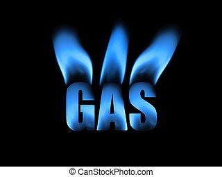 natuurlijke , abstract, gas