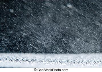 natuurlijke , achtergrond, regen, snowstorm