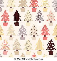 natuurlijke , boompje, kerstmis, achtergrond
