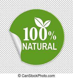 natuurlijke , etiket
