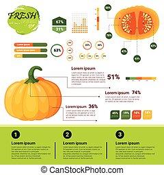 natuurlijke , fris, groei, infographics, organische ...