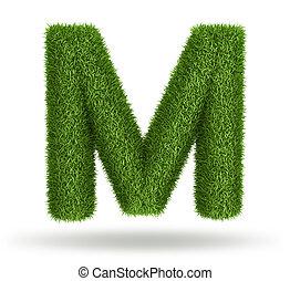 natuurlijke , gras, m, brief