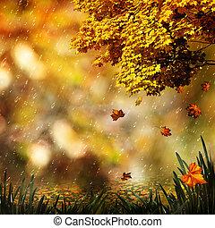 natuurlijke , herfst, abstract, achtergronden, ontwerp, jouw