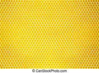 natuurlijke , textuur, honing, achtergrond, kam, of