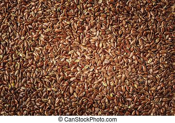 natuurlijke , voedingsmiddelen, vlas, zaden, linseed,...