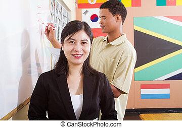nauczanie, chiński język