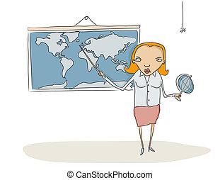 nauczyciel, geografia