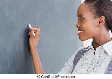 nauczyciel, przeglądnięcie, przedimek określony przed rzeczownikami, tablica
