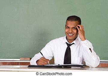 nauczyciel, przystojny