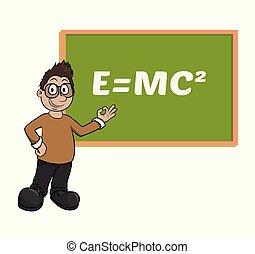 nauczyciel, samiec, nauczanie, whiteboard