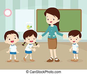 nauczyciel, studenci, klasa