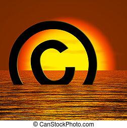 naufrage, droit d'auteur, piraterie, symbole, infringement, ...