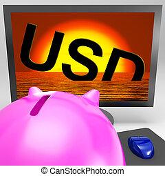 naufrage, usd, moniteur, projection, dettes, américain
