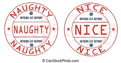 Naughty and nice stamps