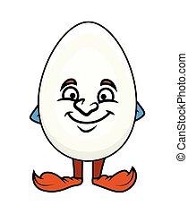 Naughty Cartoon Egg Vector