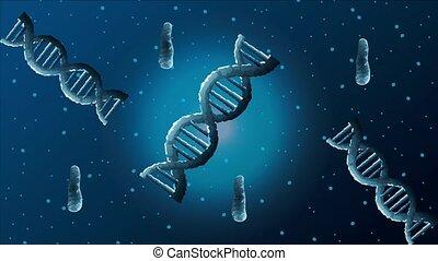 nauka, afisz, molekuły, dna, ożywiony